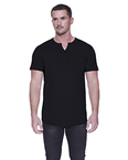 Men's Cotton/Modal Slit V-Neck