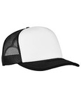 Adult Classics Curved Visor Foam Trucker Cap - White Front Panel