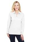 CrownLux Performance Ladies' Plaited Long Sleeve Polo