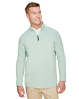 CrownLux Performance Men's Clubhouse Micro-Stripe Quarter-Zip