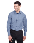 Men's Crown Collection Stretch Pinpoint Chambray Shirt
