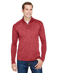 Men's Tonal Space-Dye Quarter-Zip