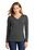 District Made Ladies Perfect Tri Long Sleeve Hoodie | Charcoal