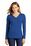 District Made Ladies Perfect Tri Long Sleeve Hoodie | Deep Royal