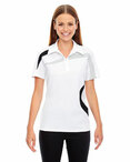 Ladies' Impact Performance Polyester Piqué Colorblock Polo