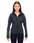 Ladies' Pulse Textured Bonded Fleece Jacket with Print