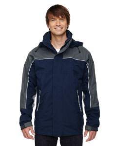 Men's 3-in-1 Seam-Sealed Mid-Length Jacket with Piping