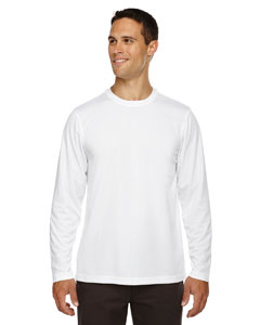 Men's Agility Performance Long-Sleeve Piqué Crew Neck