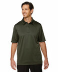 Men's Exhilarate Coffee Charcoal Performance Polo with Back Pocket