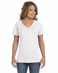 Ladies' Ringspun Featherweight V-Neck T-Shirt