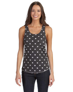 Ladies' Meegs Printed Racer Tank