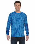 5.4 oz., 100% Cotton Long-Sleeve Tie-Dyed T-Shirt