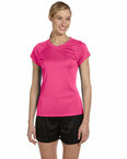 Double Dry® Ladies' 4.1 oz. V-Neck T-Shirt