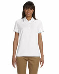 Ladies' Pima Piqué Short-Sleeve Tipped Polo