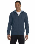 Men's 7 oz. Organic/Recycled Heathered Full-Zip Hood