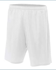 "Lined 9"""" Inseam Tricot Mesh Shorts"