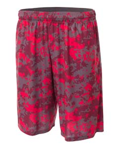 "Adult 10"""" Inseam Printed Camo Performance Shorts"
