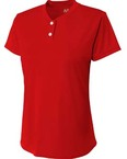 Girl's Tek 2-Button Henley Shirt