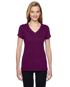 Ladies' 4.7 oz. 100% Sofspun™ Cotton Jersey Junior V-Neck T-Shirt