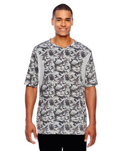 Men's Short-Sleeve Athletic V-Neck All Sport Sublimated Camo Jersey