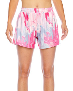 Ladies' All Sport Sublimated Pink Swirl Short